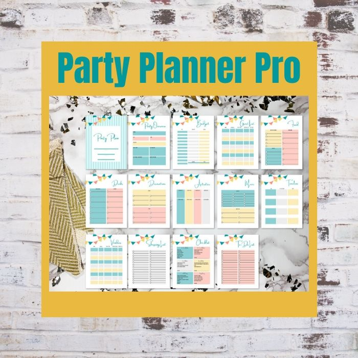 Party Planner Pro is 13 pages of party planning sheets to help you stay on track and organized!