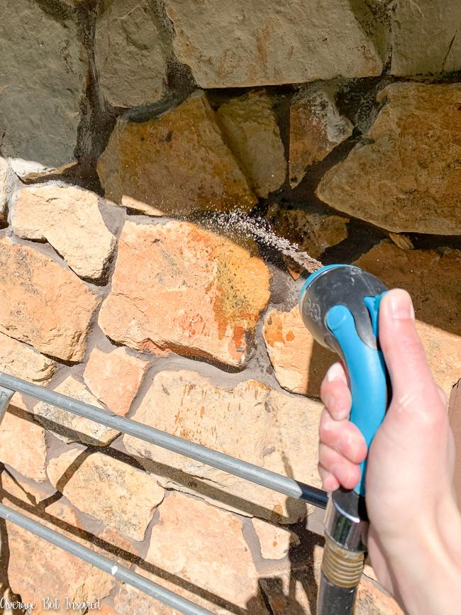 To limewash exterior stone, you must wet the rock first.